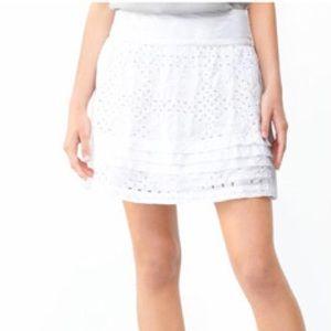Banana Republic White Eyelet Skirt
